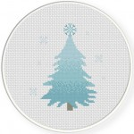 Snow Tree Cross Stitch Illustration