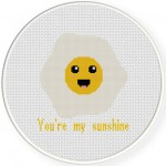You're My Sunshine Cross Stitch Illustration