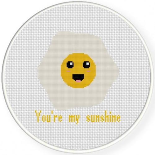You're My Sunshine Cross Stitch Illustration