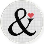 Ampersand Cross Stitch Illustration