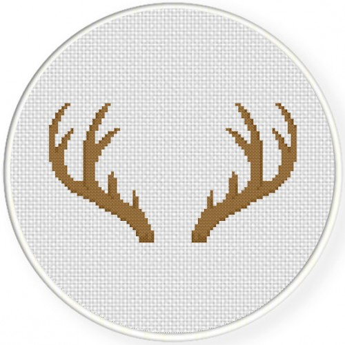 Antler Cross Stitch Illustration