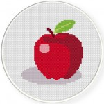 Apple Cross Stitch Illustration