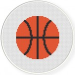 BasketBall Cross Stitch Illustration