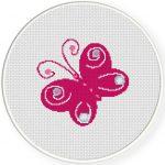 Beautiful Butterfly Cross Stitch Illustration