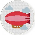 Blimp Cross Stitch Illustration