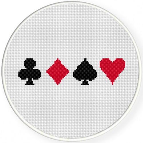 Card Suits Cross Stitch Illustration