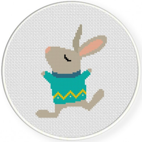 Cold and Cozy Cross Stitch Illustration