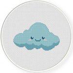 Cute Cloud Cross Stitch Illustration