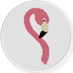 Flamingo Portrait Cross Stitch Illustration