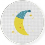 Good Night Moon Cross Stitch Illustration