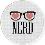 I Love Nerds Cross Stitch Illustration