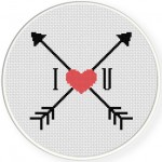 I Love You Cross Stitch Illustration