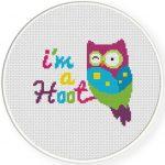 I_m a Hoot Cross Stitch Illustration