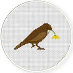 Little Sparrow Cross Stitch Illustration