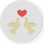 Love Doves Cross Stitch Illustration