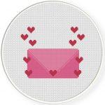 Love Letter Cross Stitch Illustration