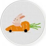 My Carrot Car Cross Stitch Illustraition