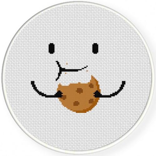 Nomnom Cookie Cross Stitch Illustration