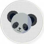 Panda Head Cross Stitch Illustration