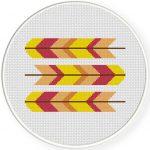 Patterned Feather Cross Stitch Illustration
