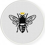 Queen Bee Cross Stitch Illustration