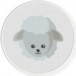 Sheep Head Cross Stitch Illustration