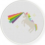 Unicorn Rainbow Laser Cross Stitch Illustration