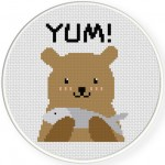 Yum! Cross Stitch Illustraition