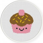 Yummy Cupcake Cross Stitch Illustration