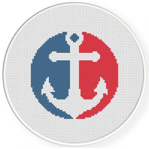 Anchor Cross Stitch Illustration