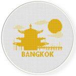 Bangkok Cross Stitch Illustration