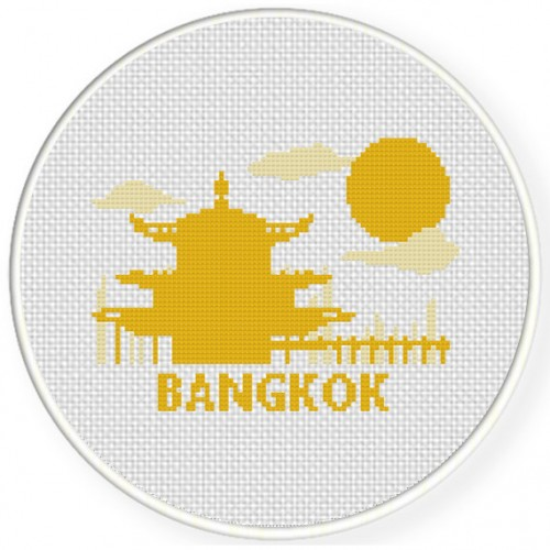 Bangkok Cross Stitch Illustration