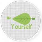 BeLEAF In Yourself Cross Stitch Illustration