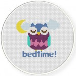 Bedtime Owl Cross Stitch Illustration