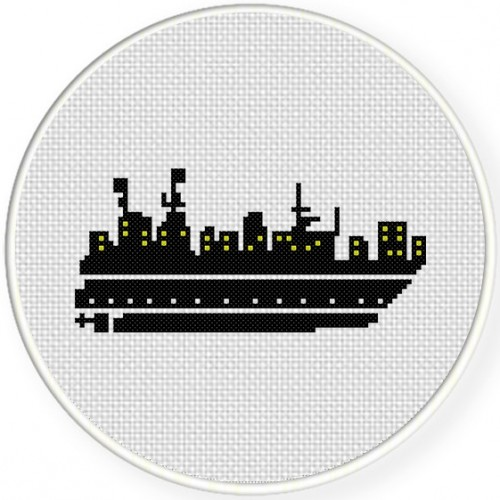 Boat Cross Stitch Illustration