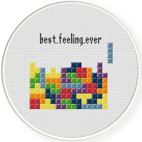 Brick Game Cross Stitch Illustration
