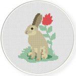 Bunny Cross Stitch Illustration