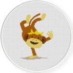 Cheeky Monkey Cross Stitch Illustration