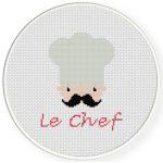 Chef Love Cross Stitch Illustration