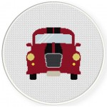 Cute Car Cross Stitch Illustration