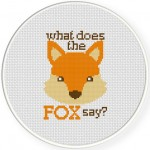 Fox Says Cross Stitch Illustration