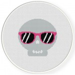 Funky Skull Cross Stitch Illustration