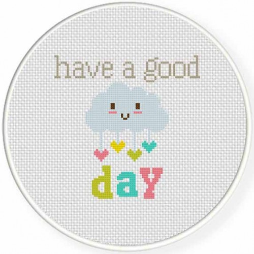 Have a Good Day Cross Stitch Illustration