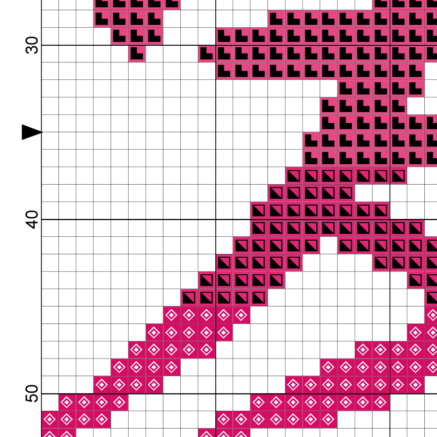 Charts Club Members Only Japanese Symbol For Love Cross Stitch