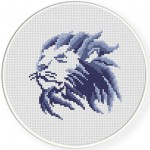 Lion Cross Stitch Illustration