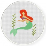 Little Mermaid Cross Stitch Illustration