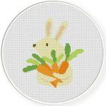 Love me Carrots Cross Stitch Illustration