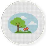 Lovely Nature Cross Stitch Illustration