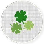 Lucky Shamrocks Cross Stitch Illustration