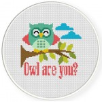 Owl Are You Cross Stitch Illustration